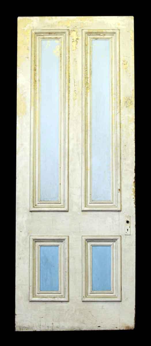 96 in. H Four Horizontal Panel Wood Door