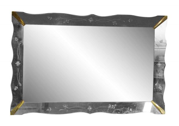 Wall Etched Venetian Mirror