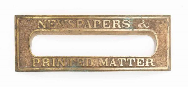 Ornate Brass Newspaper Door Slot
