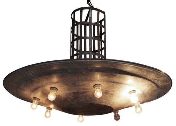 Large Modern Tin Disk Light