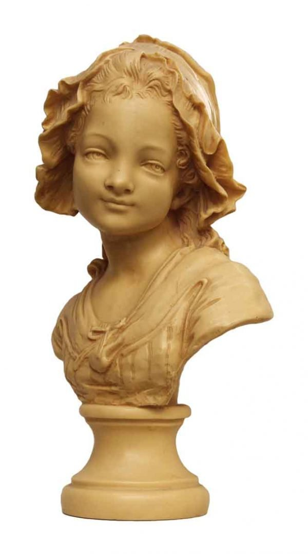 Composite Young Maiden Sculpture