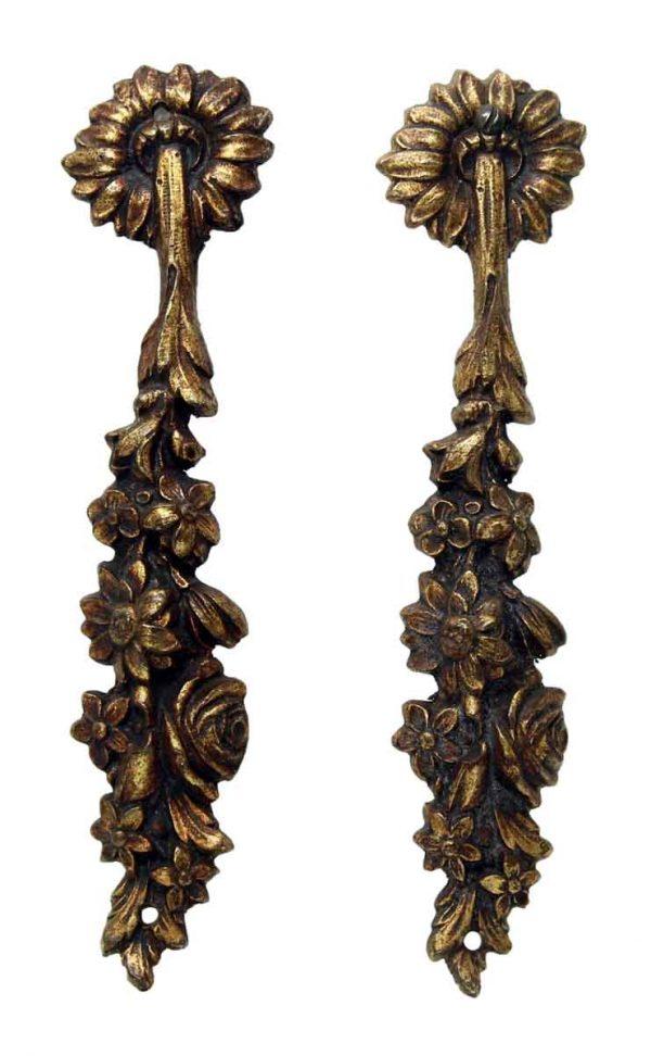 Bronze Floral Furniture Appliques