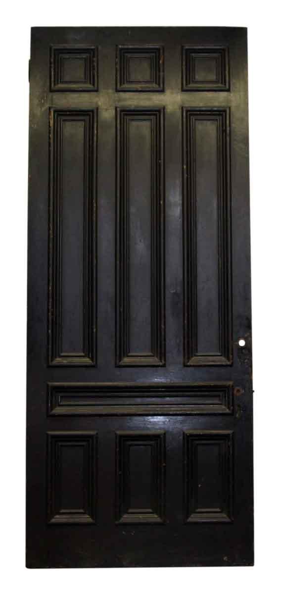 Oversize Black Ten Panel Wood Door