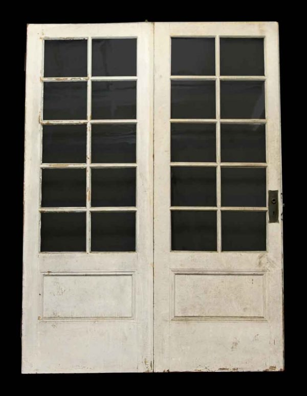 Pair of Glass Panel Hinged Doors