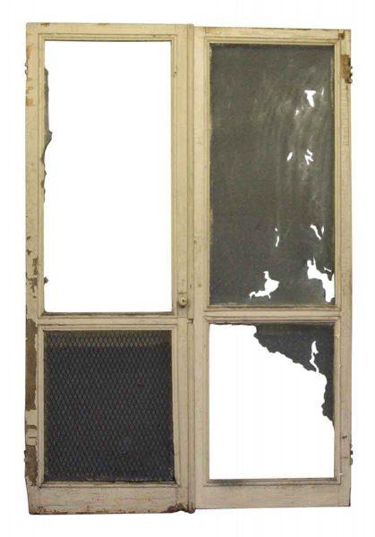 Pair of Old Worn Screen Door Frames