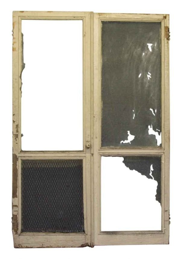 Pair of Old Worn Screen Door Frames