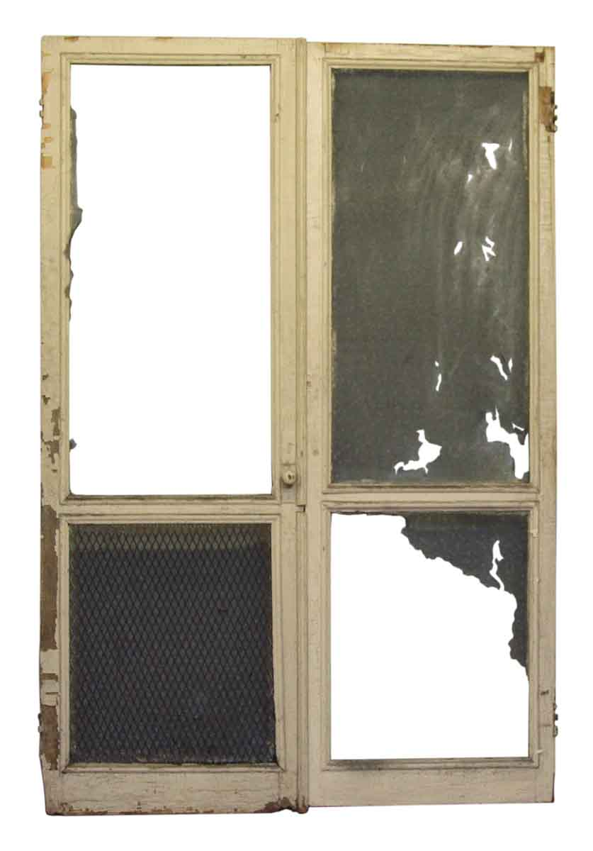 Pair of old worn screen door frames olde good things for Screen door frame