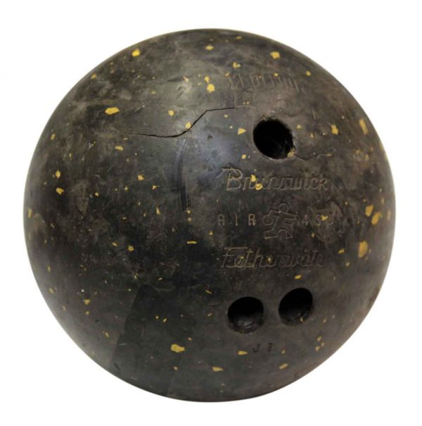 Vintage Brunswick Black Bowling Ball