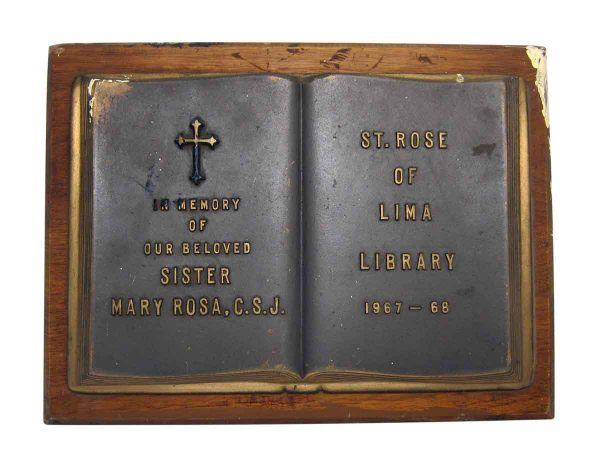 St. Rose of Lima Library Tribute Plaque