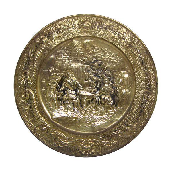 Brass Pilgrims Dinner Scene Plate