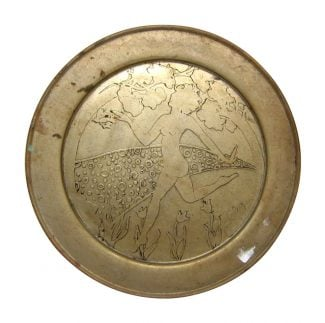 Brass Dancing Women Plate  sc 1 st  Olde Good Things : antique tin plates - pezcame.com