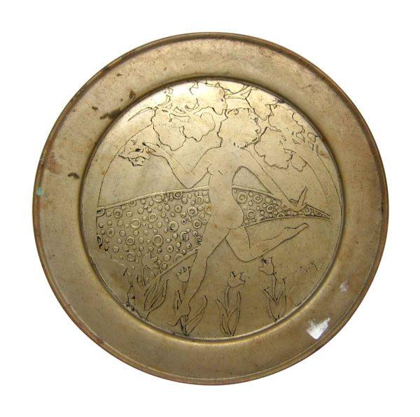 Brass Dancing Women Plate