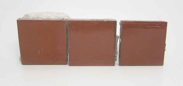 Set of Three Small Red Square Tiles