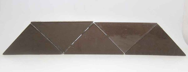 Brown Shiny Triangle Tile Set