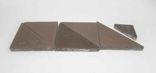 Set of Six Brown Triangle Tiles