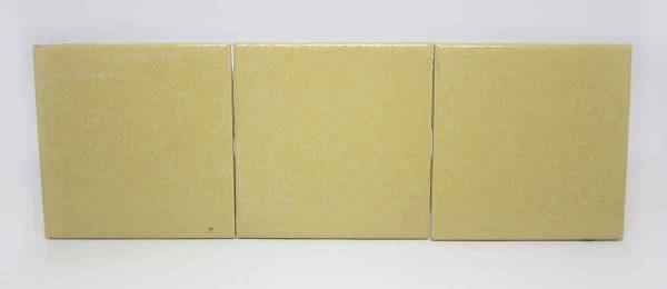 Set of Three Yellow Bathroom Tile Set