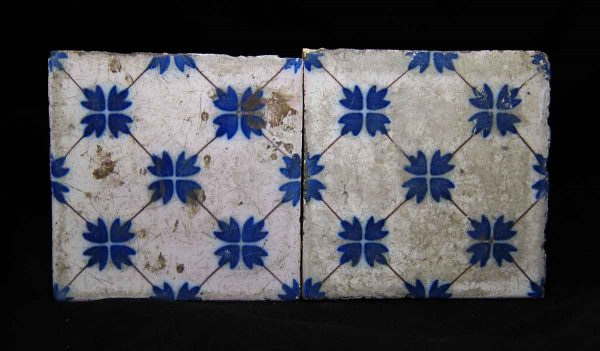 Pair Blue & White Tiles