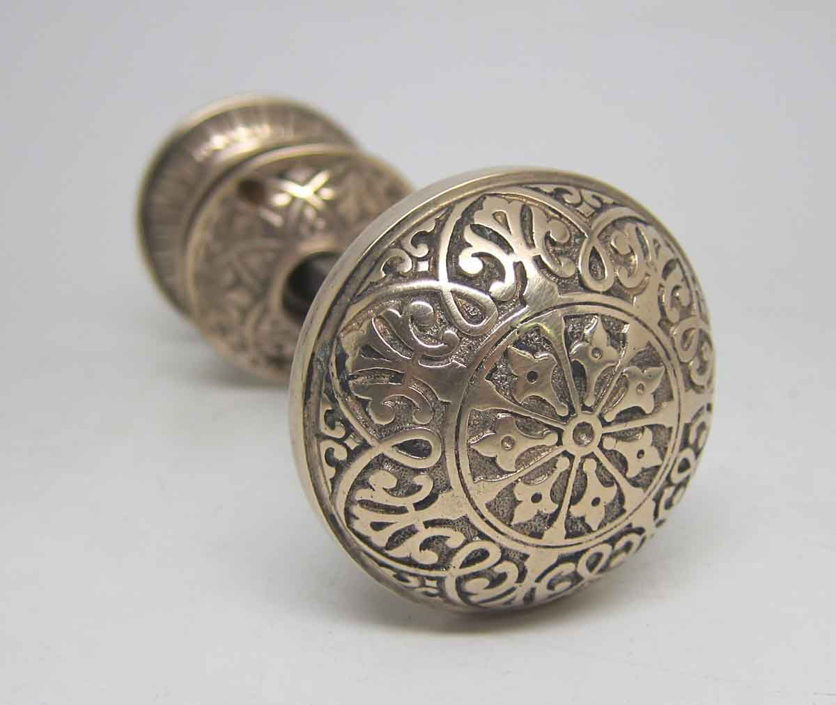 decorative bronze seven fold door knob set olde good things. Black Bedroom Furniture Sets. Home Design Ideas