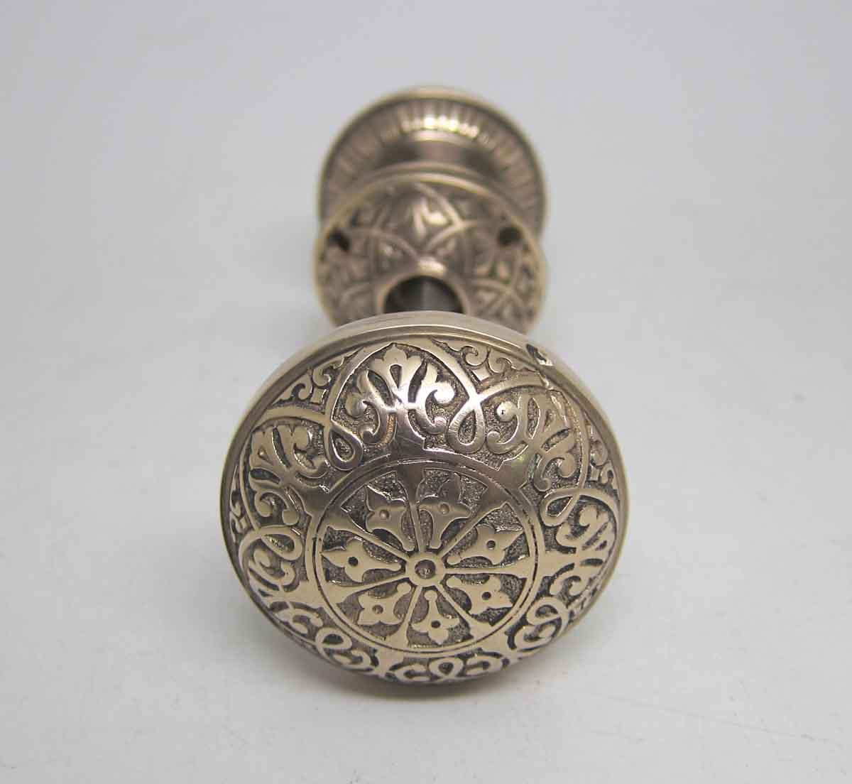 Decorative bronze seven fold door knob set olde good things for Unique door knobs