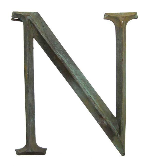 N Bronze Letter