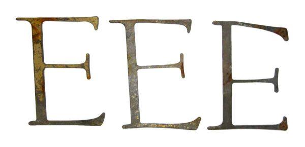 Metal E Letter