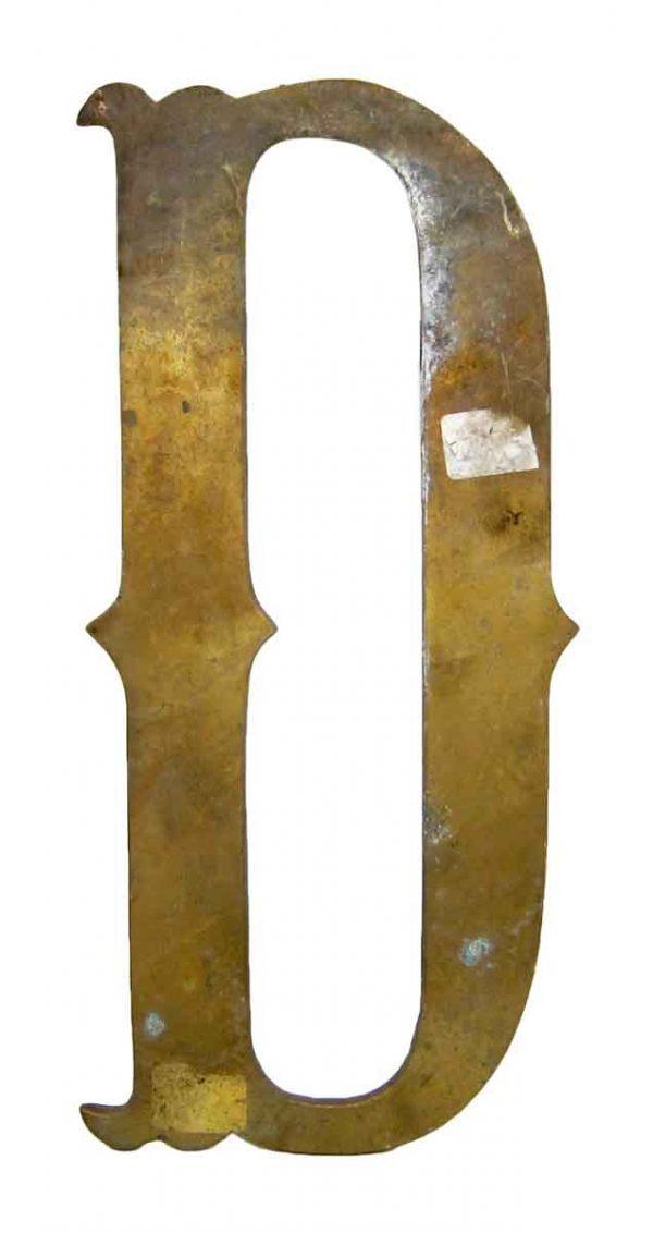 D Brass Letter