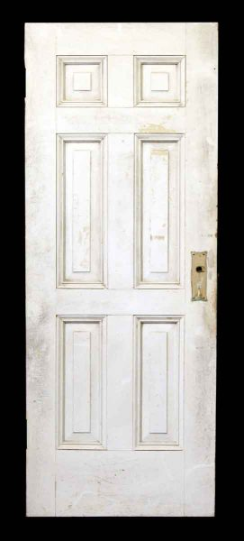 76.5 in H Six Panel Wood Door