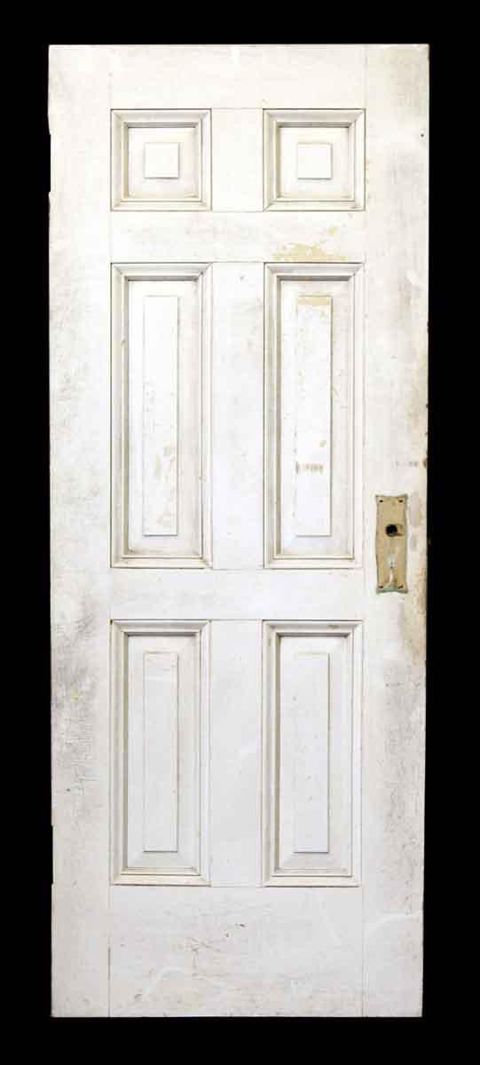 76.5 in H Six Panel Wood Door