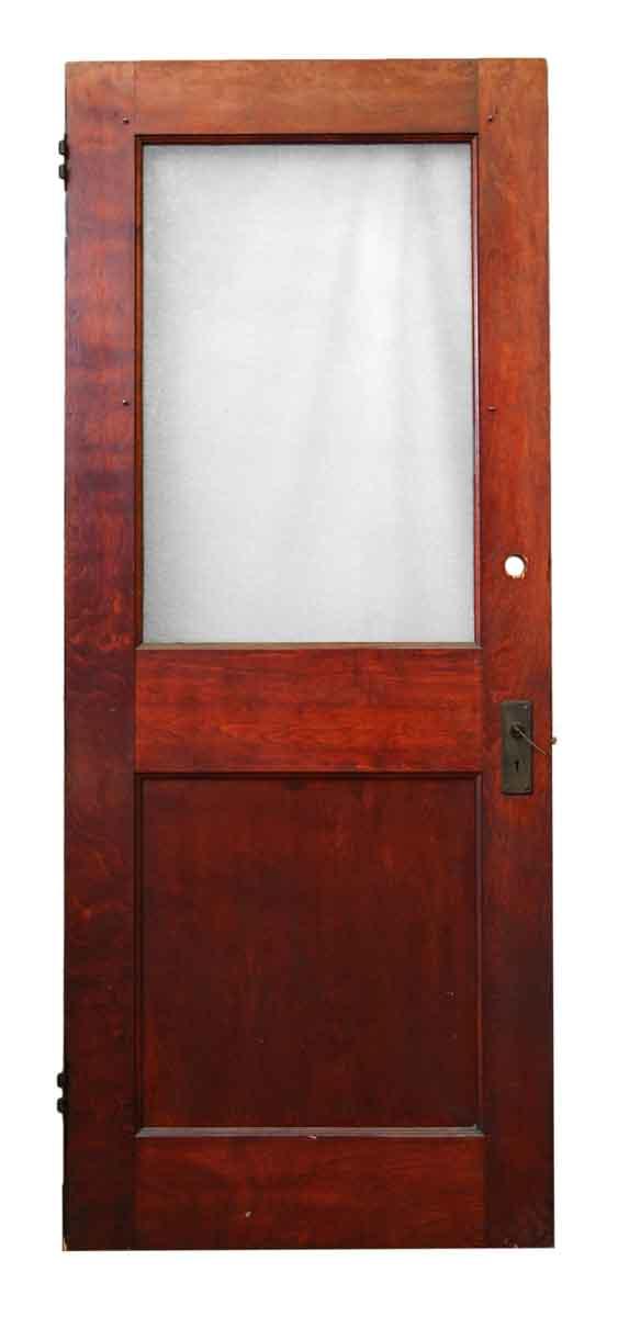 82 in. H One Half Glass Panel Door
