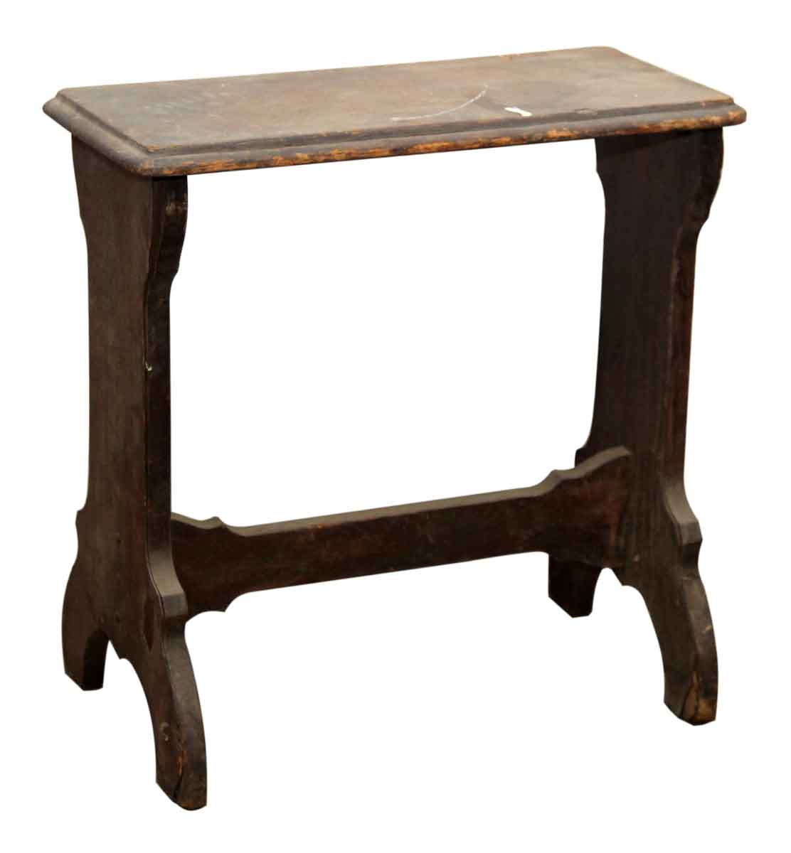 Narrow wooden side table olde good things - Antique side tables for living room ...