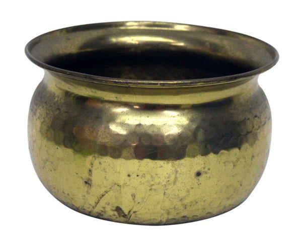 Small Hammered Brass Pot