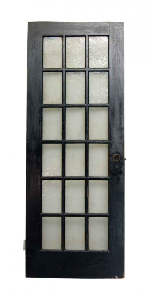 83 in. H Texture Glass French Door