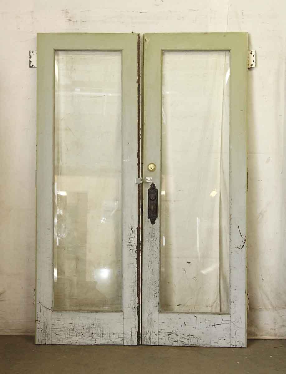 Pair Of Full Panel Glass Entry Doors Olde Good Things