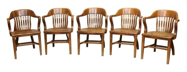 Bank of England Maple Arm Chairs