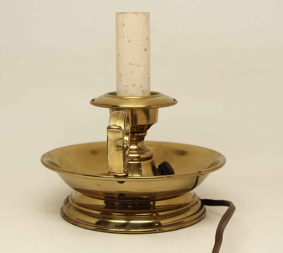 Brass Candlestick Lamp Olde Good Things