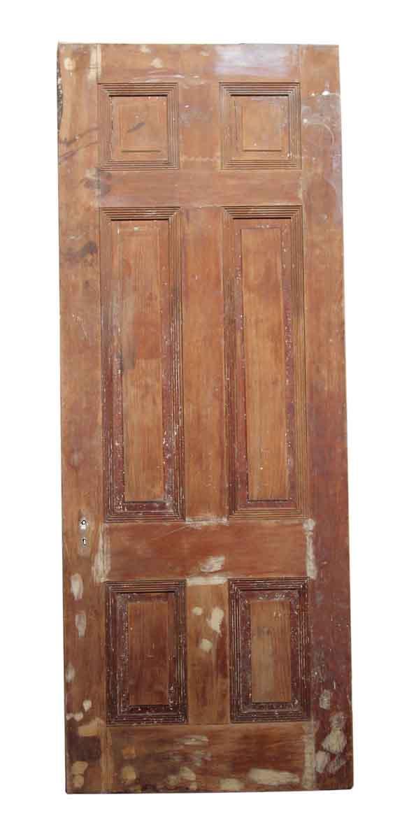 89 in. H Six Panel Unfinished Door