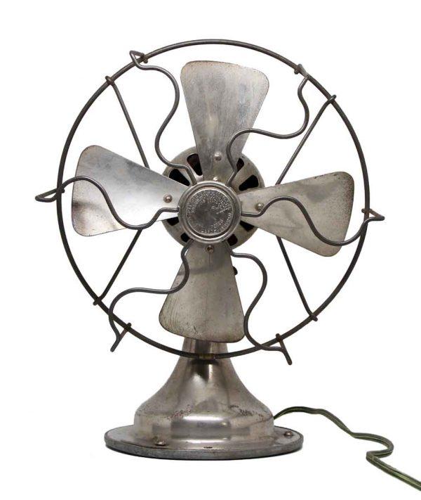 Fitzgerald Nickel Finish Desk Fan