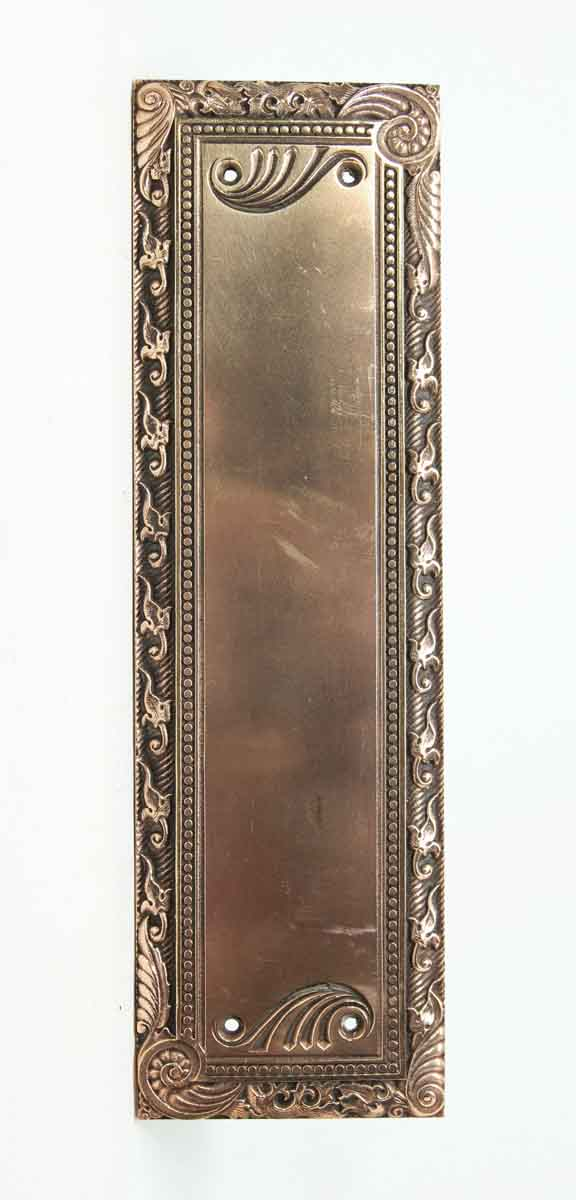 Copper Plated Ornate Sargent Push Plate