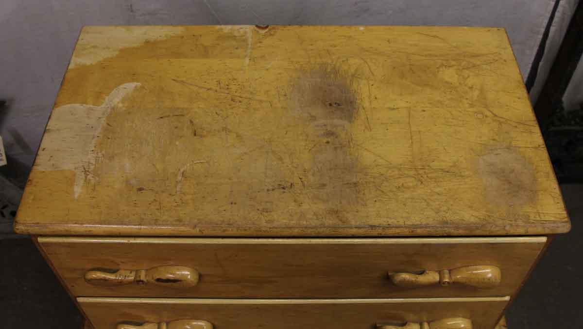 maple childrens highboy dresser with boat motif - Highboy Dresser
