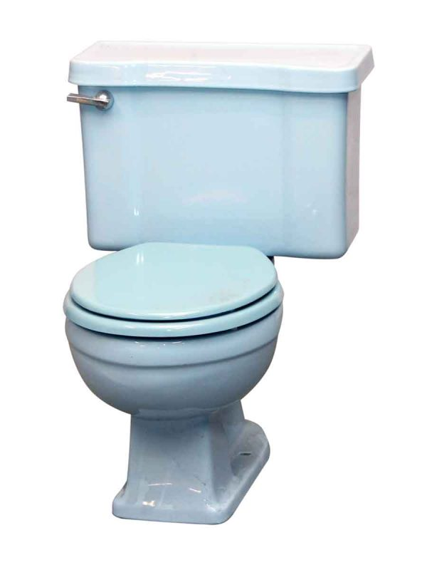 Reclaimed Blue Toilet