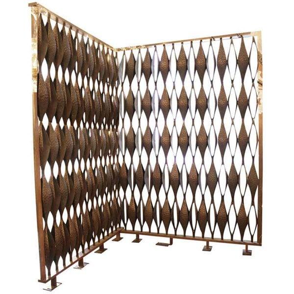 1964 Solid Cast Bronze Mid Century Modern Room Divider