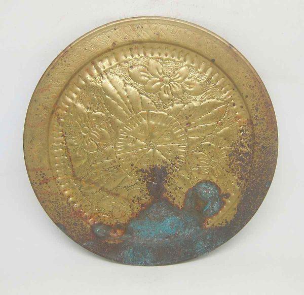 Brass Floral Decorative Plate