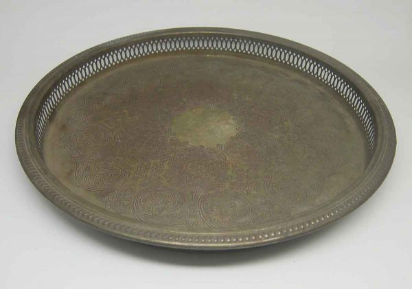 Metal Decorative Floral Plate