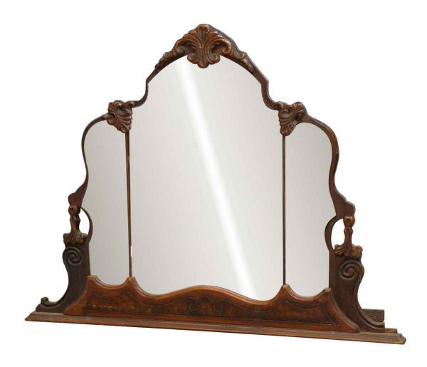 Ornate Carved Vanity Distressed Mirror