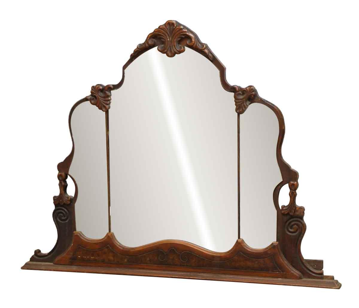Ornate Carved Vanity Distressed Mirror Olde Good Things