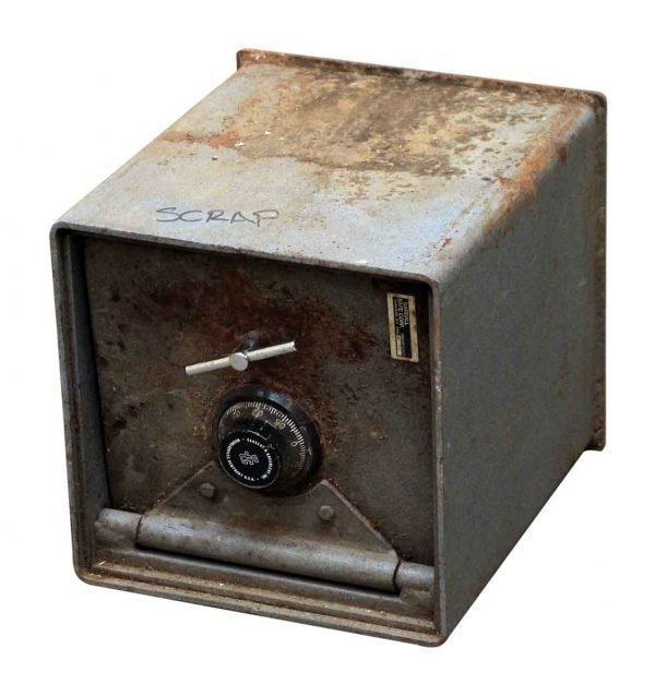 Salvaged Gray Gardall Safe