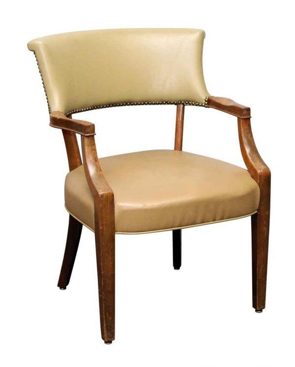 Studded Vinyl Tan Chair
