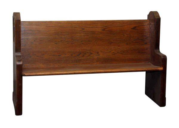 Salvaged Medium Toned Oak Wood Pew