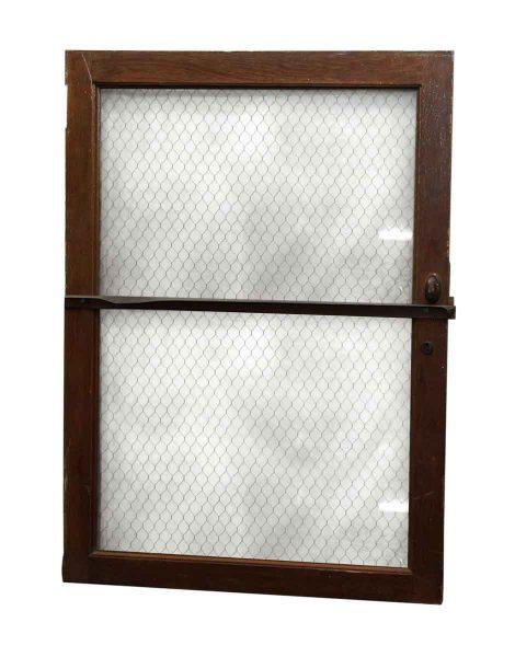 Window with Chicken Wire Glass