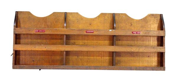 Wooden Wall Three Divided Reclaimed Shelf
